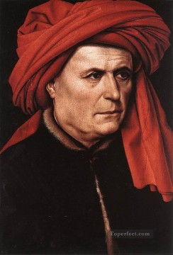 Portrait Of A Man 1400 Robert Campin Oil Paintings