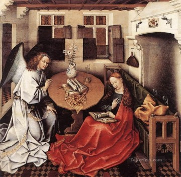 annunciation Painting - Annunciation Robert Campin