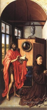 Altarpiece Painting - The Werl Altarpiece Left Wing Robert Campin
