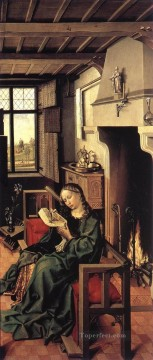 Altarpiece Painting - The Werl Altarpiece Right Wing Robert Campin
