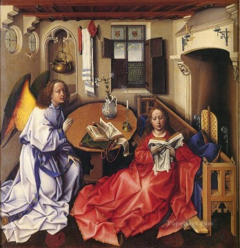 Altarpiece Painting - Merode Altarpiece Nativity Robert Campin