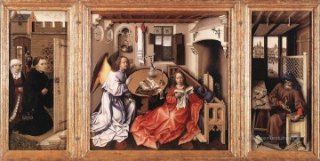 Altarpiece Painting - Merode Altarpiece Robert Campin