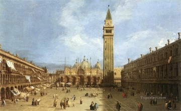 Canaletto Painting - Piazza San Marco 1730 Canaletto