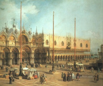 Canaletto Painting - Piazza San Marco Looking Southeast Canaletto