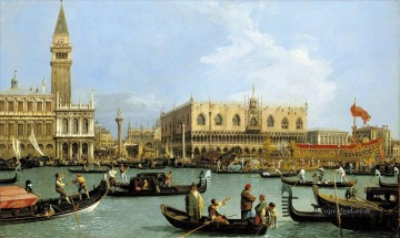 Canaletto Painting - Return of the Bucentaurn to the Molo on Ascension Day Canaletto
