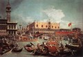 The Bucintoro Returning To The Molo On Ascension Day Canaletto