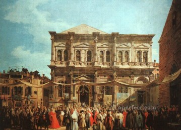 Canaletto Painting - The Feast Day of St Roch Canaletto