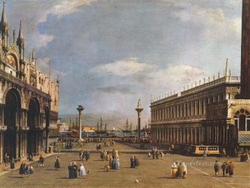 Canaletto Painting - The Piazzetta Canaletto