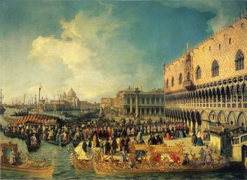 Canaletto Painting - reception of the imperial ambassador at the doge s palace 1729 Canaletto