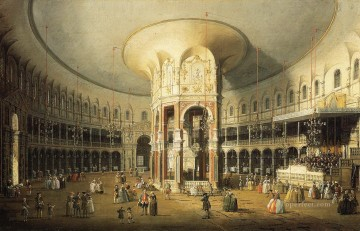 Canaletto Painting - the interior of the rotunda ranelagh gardens Canaletto