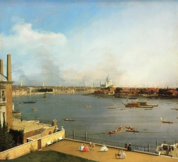 London Art - the thames and the city of london from richmond house 1746 Canaletto