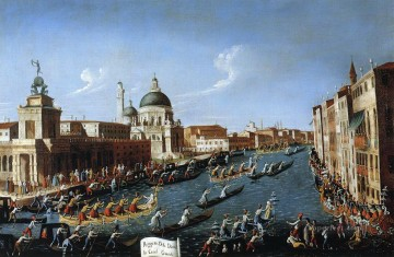 Canaletto Painting - the women s regaton the grand canal Canaletto