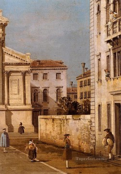 Della Painting - san francesco della vigna church and campo Canaletto