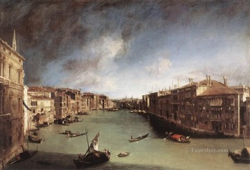 Canaletto Painting - CANALETTO Grand Canal Looking Northeast From Palazo Balbi Toward The Rial to Bridge Canaletto