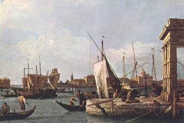 Canaletto Painting - La punta della Dogana Custom Point Canaletto