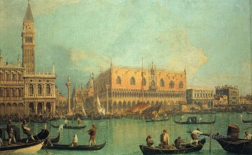 Canaletto Painting - Palazzo Ducale and the Piazza di San Marco Canaletto