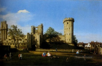 Canaletto Painting - The Eastern Facade Of Warwick Castle Canaletto