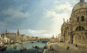 Canaletto Painting - The Grand Canal at the Salute Church Canaletto