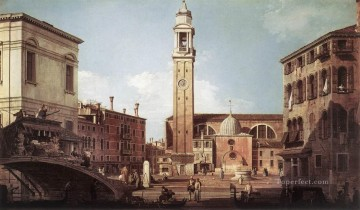 Canaletto Painting - View Of Campo Santi Apostoli Canaletto