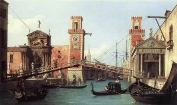 Canaletto Painting - View Of the Entrance To The Arsenal Canaletto