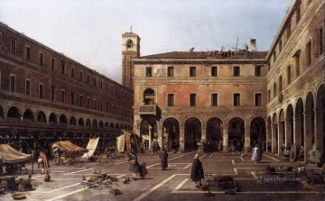 Canaletto Painting - the campo di rialto Canaletto
