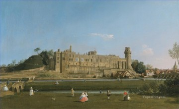 Canaletto Painting - warwick castle Canaletto