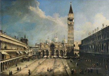 Canaletto Painting - CANALETTO Piazza San Marco Canaletto