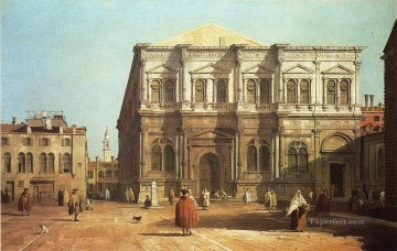 Canaletto Painting - campo san rocco Canaletto