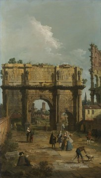 Canaletto Painting - rome the arch of constantine 1742 Canaletto