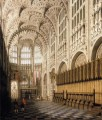 the interior of henry vii chapel in westminster abbey Canaletto
