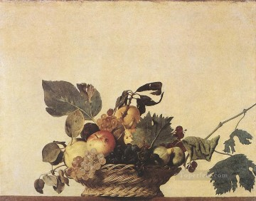 Fruit Painting - Basket of Fruit still life Caravaggio