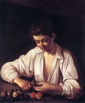Boy Peeling a Fruit Caravaggio Oil Paintings