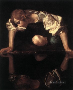 Narcissus Caravaggio Oil Paintings