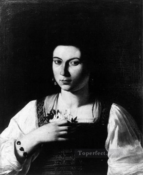 Caravaggio Works - Portrait of a Courtesan Caravaggio