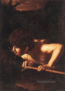 Caravaggio Painting - St John the Baptist at the Well Caravaggio