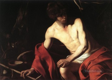 St John the Baptist1 Baroque Caravaggio Oil Paintings