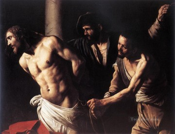 Caravaggio Painting - Christ at the Column Caravaggio