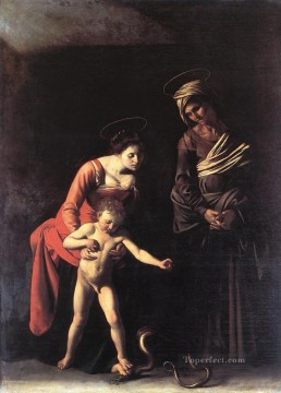Caravaggio Painting - Madonna with the Serpent Caravaggio
