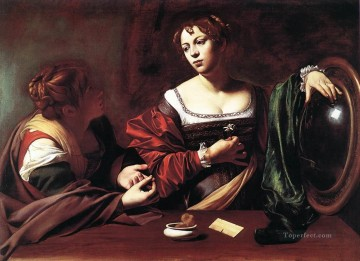 Caravaggio Painting - Martha and Mary Magdalene Caravaggio