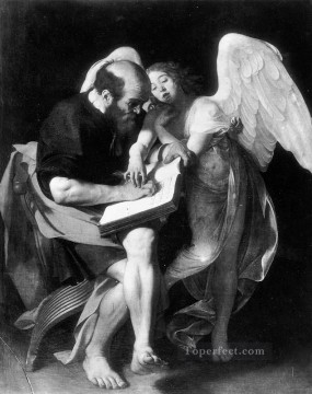 Caravaggio Painting - St Matthew and the Angel Caravaggio