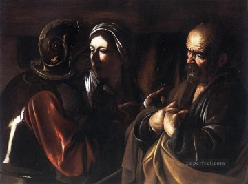 Caravaggio Painting - The Denial of St Peter Caravaggio
