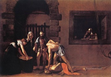 Caravaggio Painting - Beheading of Saint John the Baptist Caravaggio