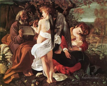 Caravaggio Works - Rest on Flight to Egypt Caravaggio