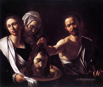 Caravaggio Painting - Salome with the Head of St John the Baptist Caravaggio