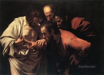 The Incredulity of Saint Thomas Caravaggio Oil Paintings