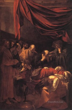 Caravaggio Painting - The Death of the Virgin Caravaggio