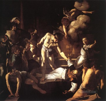 Caravaggio Painting - The Martyrdom of St Matthew Baroque Caravaggio