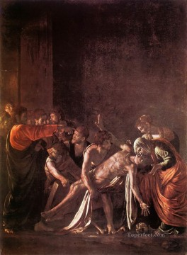 Caravaggio Painting - The Raising of Lazarus Baroque Caravaggio