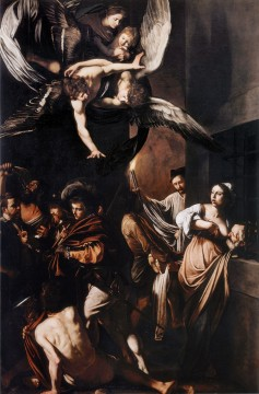 Caravaggio Painting - The Seven Acts of Mercy Baroque Caravaggio