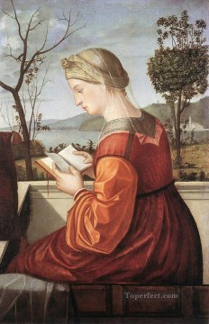 Virgin Painting - The Virgin Reading Vittore Carpaccio